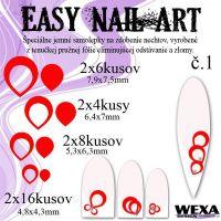 Easy Nail Art č. 1 - červená