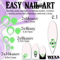 Easy Nail Art č. 1 - bledozelená