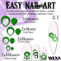 Easy Nail Art č. 1 - tmavozelená