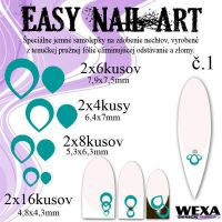 Easy Nail Art č. 1 - tmavotyrkysová