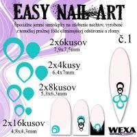 Easy Nail Art č. 1 - bledotyrkysová
