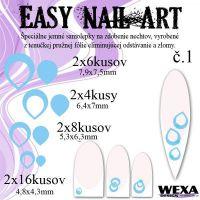 Easy Nail Art č. 1 - bledomodrá