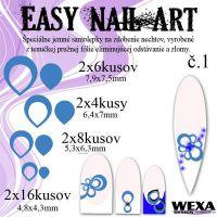 Easy Nail Art č. 1 - tmavomodrá