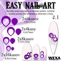 Easy Nail Art č. 1 - fialová