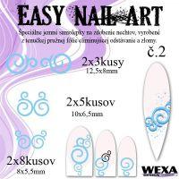 Easy Nail Art č. 2 - bledomodrá