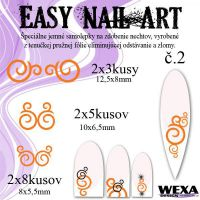 Easy Nail Art č. 2 - oranžová