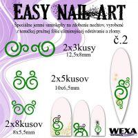 Easy Nail Art č. 2 - tmavozelená