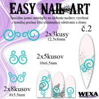 Easy Nail Art č. 2 - bledotyrkysová