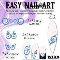 Easy Nail Art č. 2 - tmavomodrá