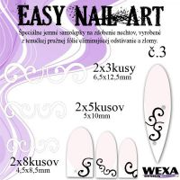 Easy Nail Art č. 3 - biela