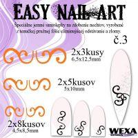 Easy Nail Art č. 3 - oranžová