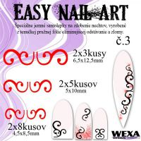 Easy Nail Art č. 3 - červená