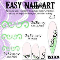 Easy Nail Art č. 3 - bledozelená