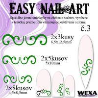 Easy Nail Art č. 3 - tmavozelená