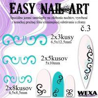 Easy Nail Art č. 3 - bledotyrkysová
