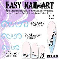 Easy Nail Art č. 3 - bledomodrá