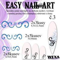 Easy Nail Art č. 3 - tmavomodrá