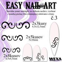 Easy Nail Art č. 3 - čierna