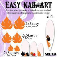 Easy Nail Art č. 4 - oranžová