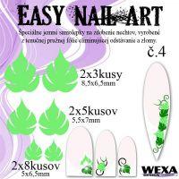 Easy Nail Art č. 4 - bledozelená