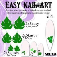 Easy Nail Art č. 4 - tmavozelená