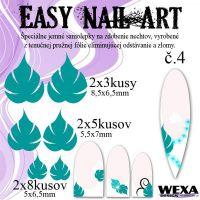 Easy Nail Art č. 4 - tmavotyrkysová