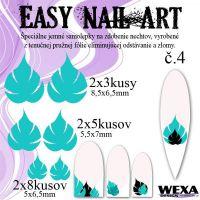 Easy Nail Art č. 4 - bledotyrkysová