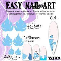 Easy Nail Art č. 4 - bledomodrá