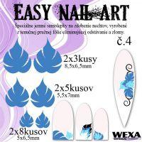 Easy Nail Art č. 4 - tmavomodrá