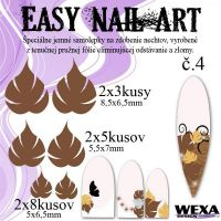 Easy Nail Art č. 4 - hnedá