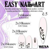 Easy Nail Art č. 5 - biela