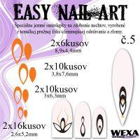 Easy Nail Art č. 5 - oranžová