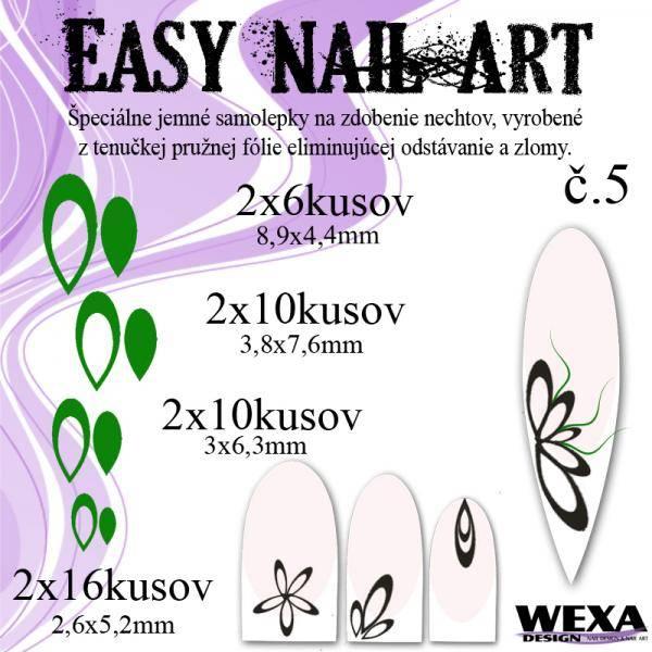 Easy Nail Art č. 5 - tmavozelená