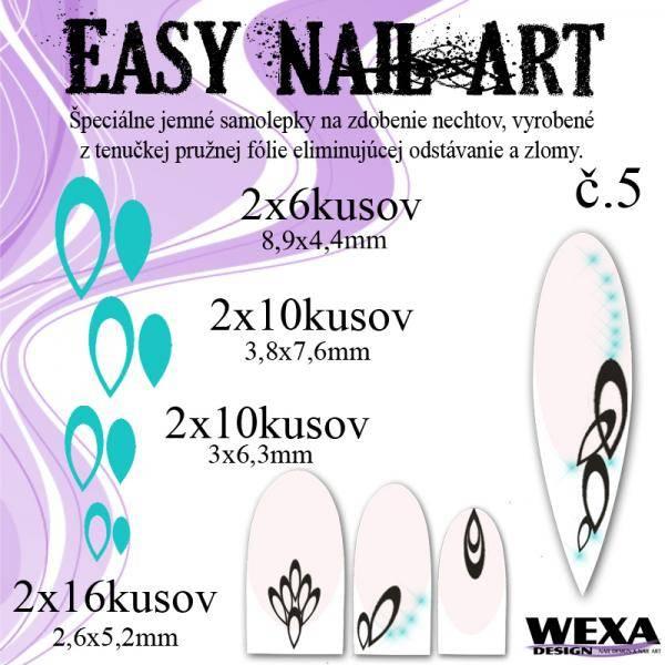 Easy Nail Art č. 5 - bledotyrkysová