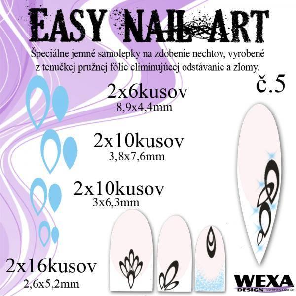Easy Nail Art č. 5 - bledomodrá