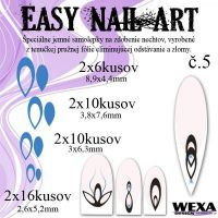 Easy Nail Art č. 5 - tmavomodrá