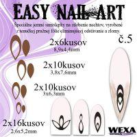 Easy Nail Art č. 5 - hnedá