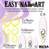 Easy Nail Art č. 6 - žltá