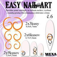Easy Nail Art č. 6 - oranžová