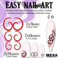 Easy Nail Art č. 6 - červená