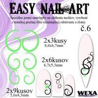 Easy Nail Art č. 6 - bledozelená