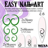 Easy Nail Art č. 6 - tmavozelená