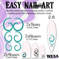 Easy Nail Art č. 6 - tmavotyrkysová