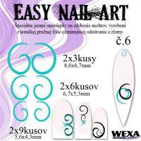 Easy Nail Art č. 6 - bledotyrkysová