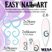 Easy Nail Art č. 6 - bledomodrá