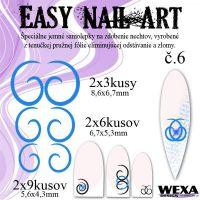 Easy Nail Art č. 6 - tmavomodrá