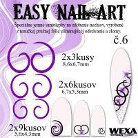 Easy Nail Art č. 6 - fialová