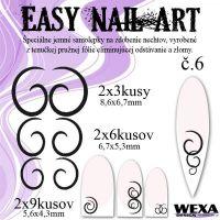 Easy Nail Art č. 6 - čierna