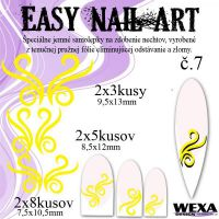 Easy Nail Art č. 7 - žltá