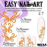Easy Nail Art č. 7 - oranžová